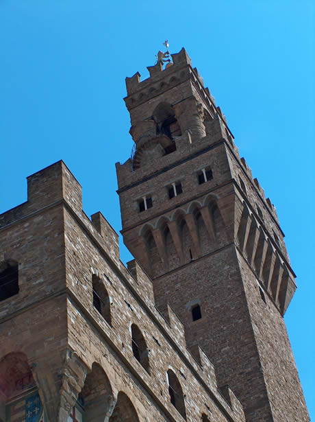 A view of palazzo vecchio in Florence
