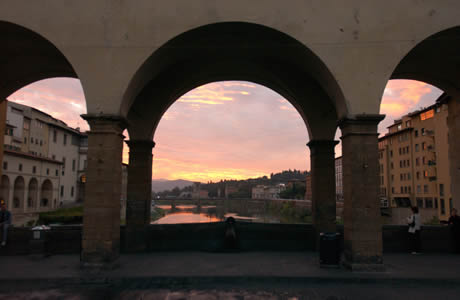 Arches of the Ponte Vecchio in Florence