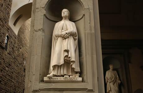 Statue l 39 ext rieur de galerie des offices florence - Galerie des offices a florence ...