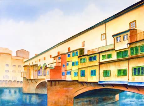 Dipinto Ponte Vecchio Firenze
